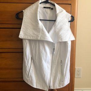 Funky white vest!